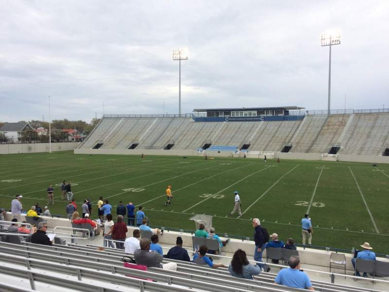 Seating view for Johnson Hagood Stadium Section E Row 14 Seat 11