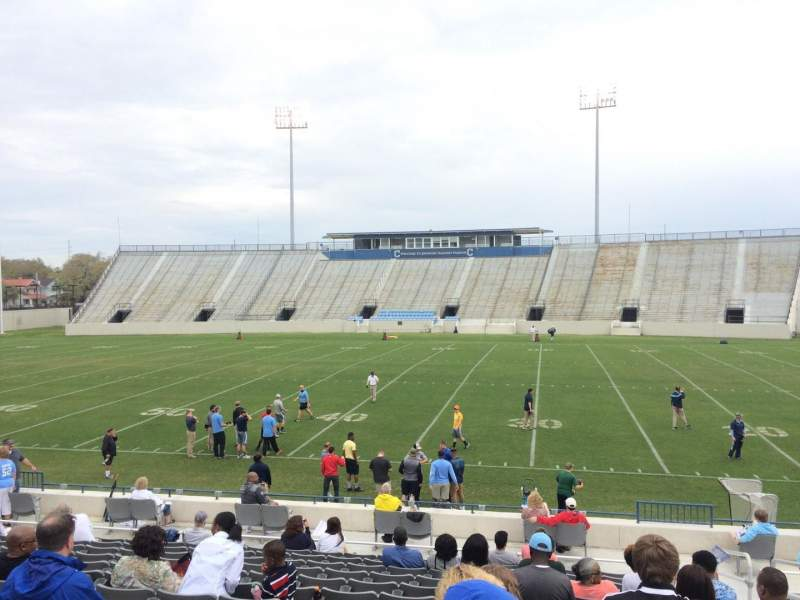 Seating view for Johnson Hagood Stadium Section F Row 15 Seat 3