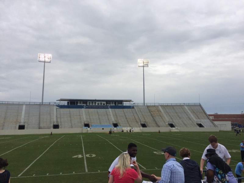 Seating view for Johnson Hagood Stadium Section H Row 3 Seat 5
