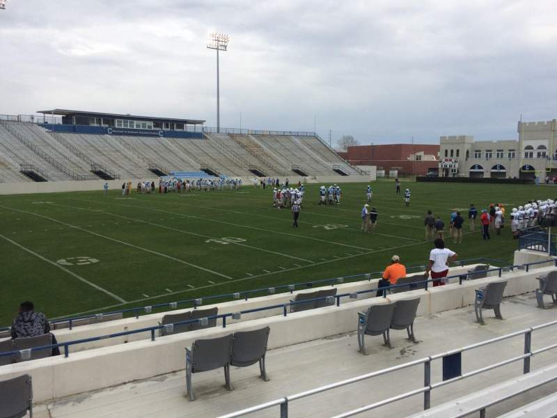 Seating view for Johnson Hagood Stadium Section L Row 8 Seat 18