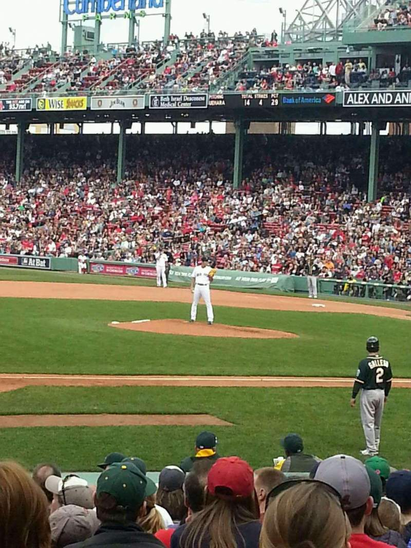 Seating view for Fenway Park Section Field Box 64 Row bb Seat 1