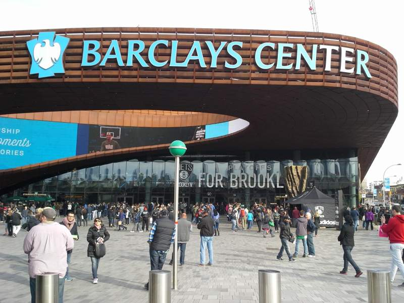 Seating view for Barclays Center Section Entrance