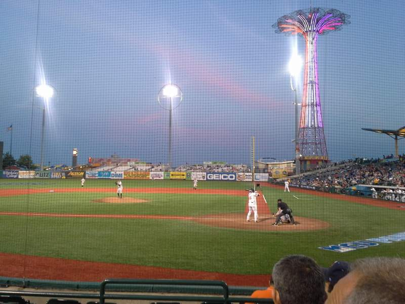 Seating view for MCU Park Section 5 Row H Seat 10