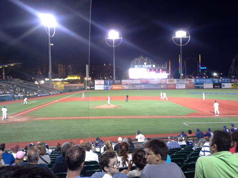 Seating view for MCU Park Section 10 Row Q Seat 7