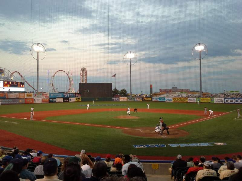 Seating view for MCU Park Section 3 Row P Seat 1