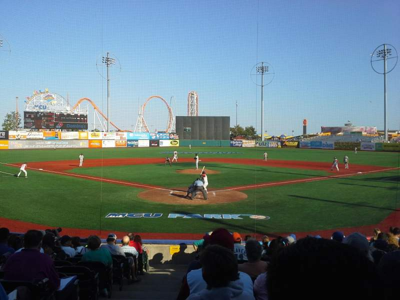 Seating view for MCU Park Section 2 Row O Seat 1