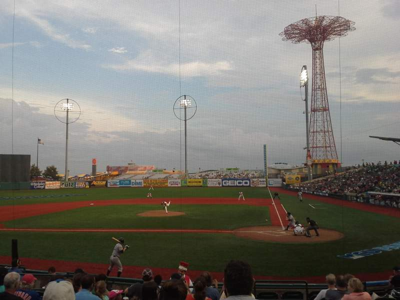 Seating view for MCU Park Section 7 Row O Seat 1
