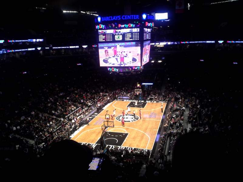 Seating view for Barclays Center Section 231 Row 4 Seat 1