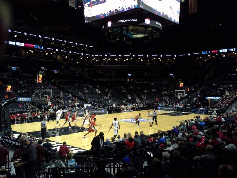 Seating view for Barclays Center Section 28 Row 10 Seat 7