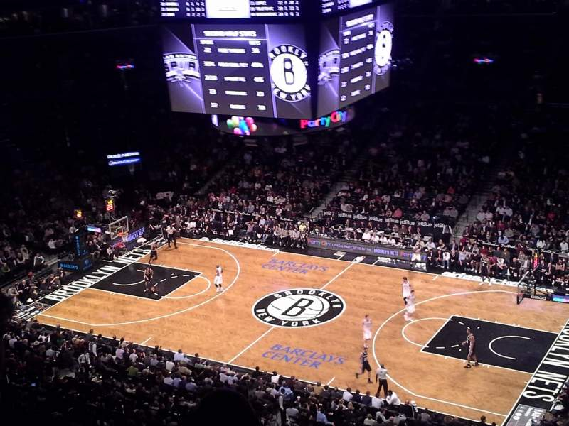 Seating view for Barclays Center Section 222 Row 6 Seat 1