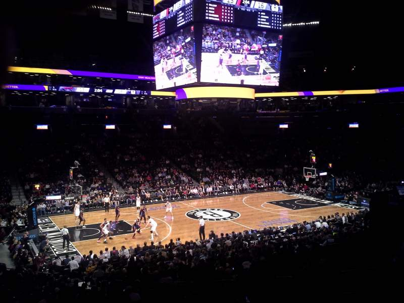 Seating view for Barclays Center Section 110 Row 4 Seat 8