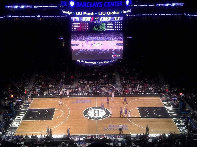 Seating view for Barclays Center Section 209 Row 9 Seat 1