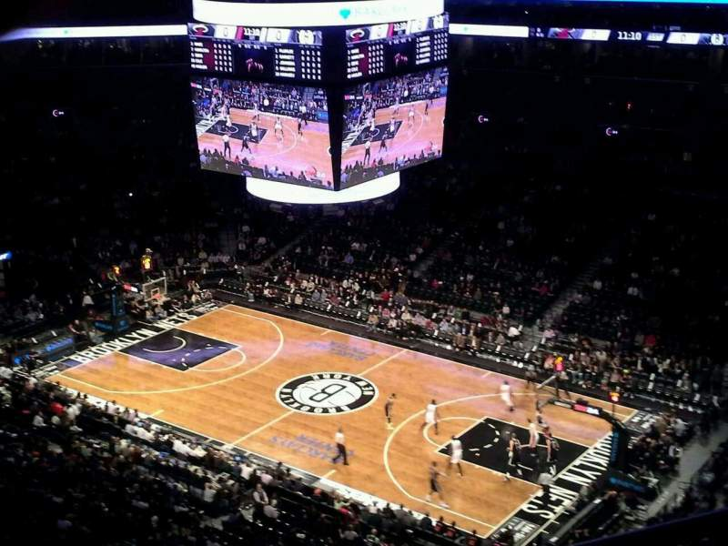 Seating view for Barclays Center Section 205 Row 10 Seat 1