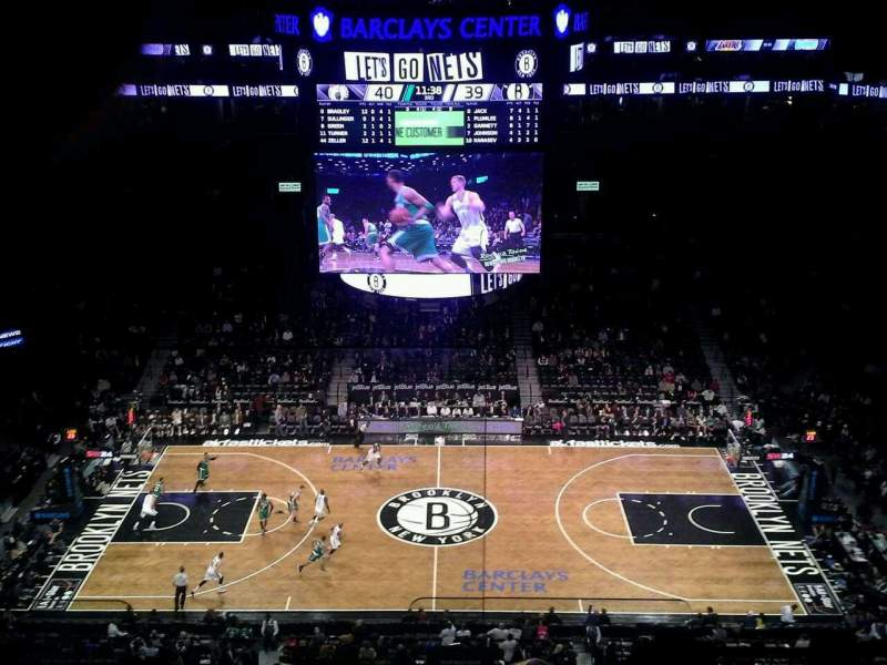 Seating view for Barclays Center Section 223 Row 8 Seat 26
