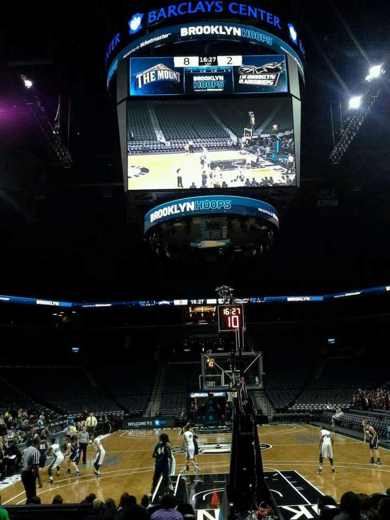 Seating view for Barclays Center Section 1 Row 6 Seat 1