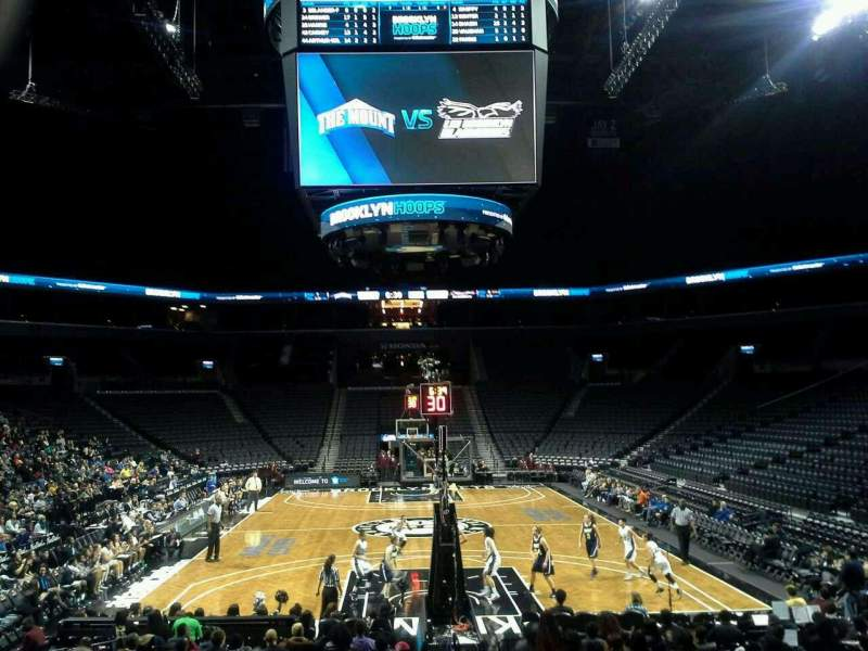 Seating view for Barclays Center Section 1 Row 12 Seat 1
