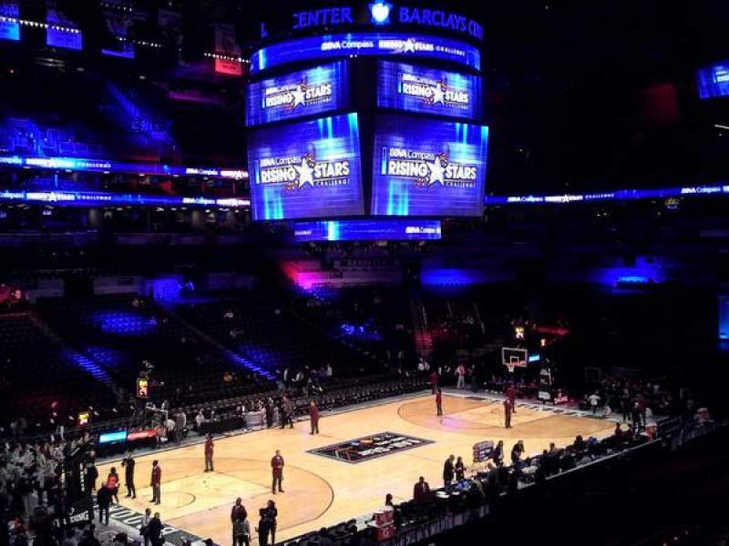 Seating view for Barclays Center Section 112 Row 8 Seat 1