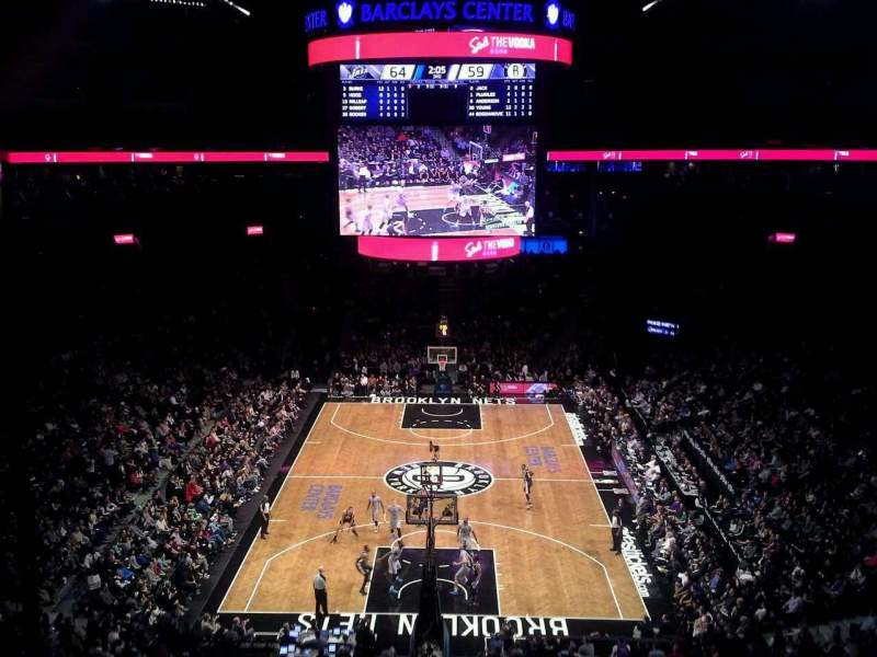 Seating view for Barclays Center Section 215 Row 1 Seat 26