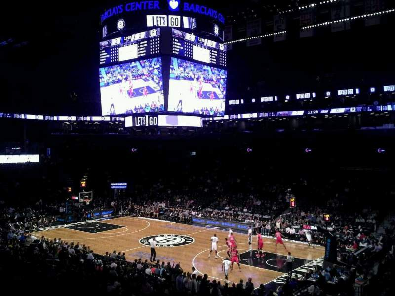 Seating view for Barclays Center Section 121 Row 5 Seat 1