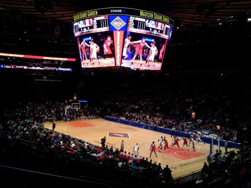 Seating view for Madison Square Garden Section 110 Row 21 Seat 1