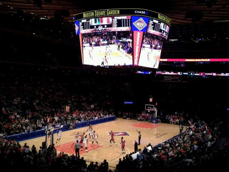 Seating view for Madison Square Garden Section 104 Row 20 Seat 1