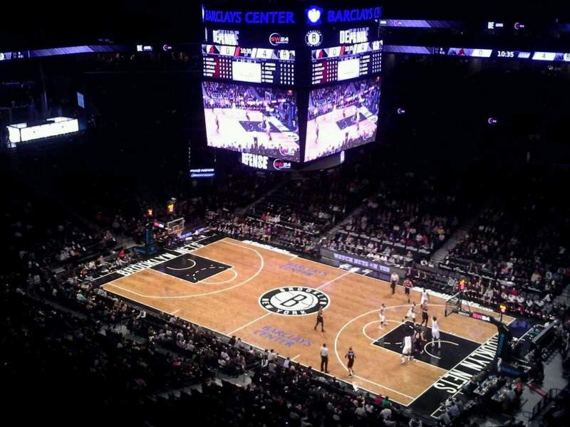 Seating view for Barclays Center Section 221 Row 9 Seat 1