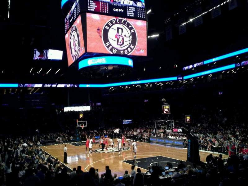 Seating view for Barclays Center Section 19 Row 12 Seat 1