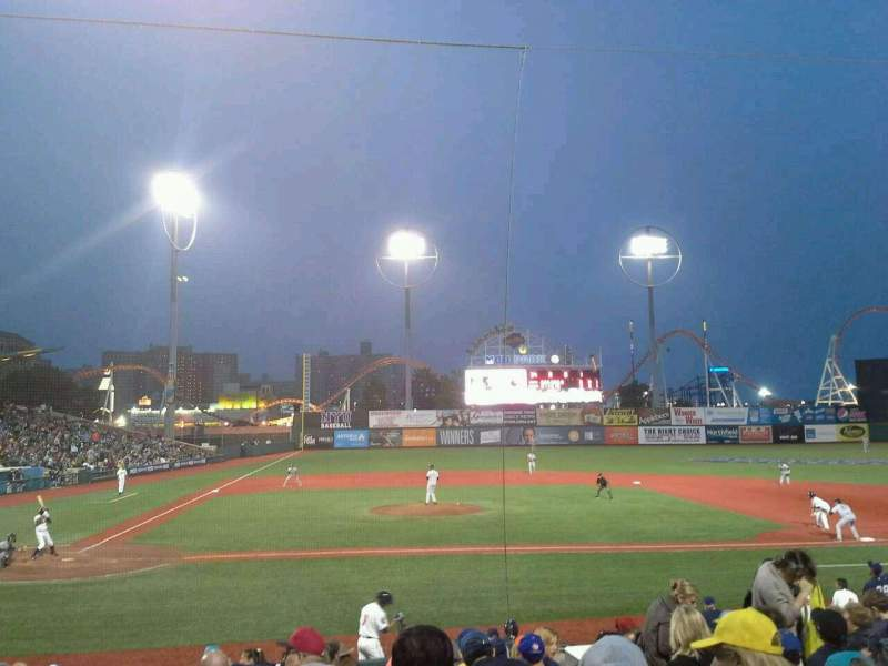 Seating view for MCU Park Section 10 Row P Seat 1