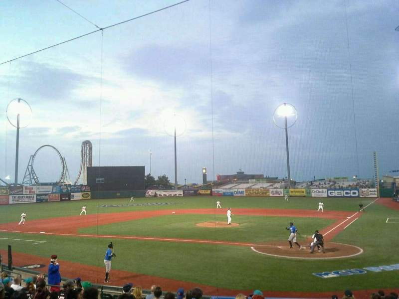 Seating view for MCU Park Section 5 Row Q Seat 1