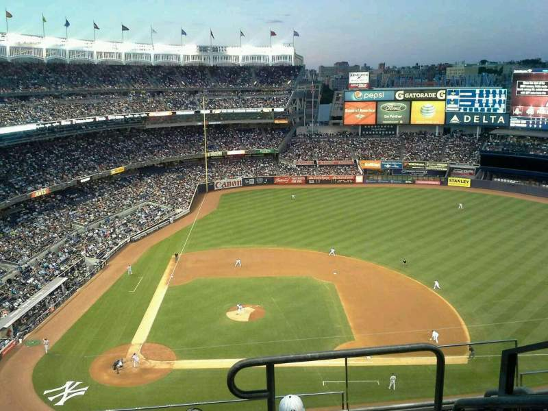 Seating view for Yankee Stadium Section 417 Row 5 Seat 1