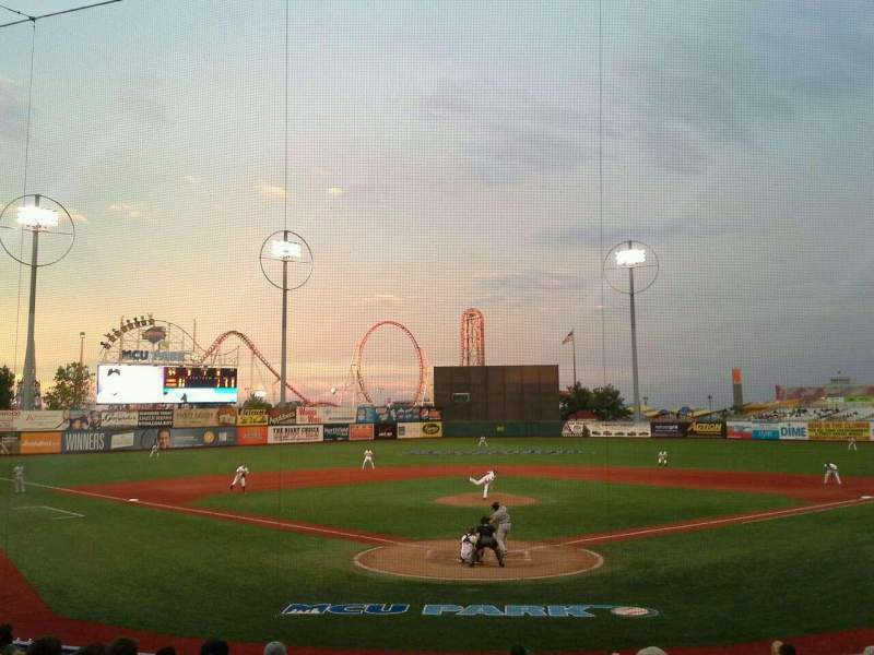 Seating view for MCU Park Section 2 Row P Seat 1