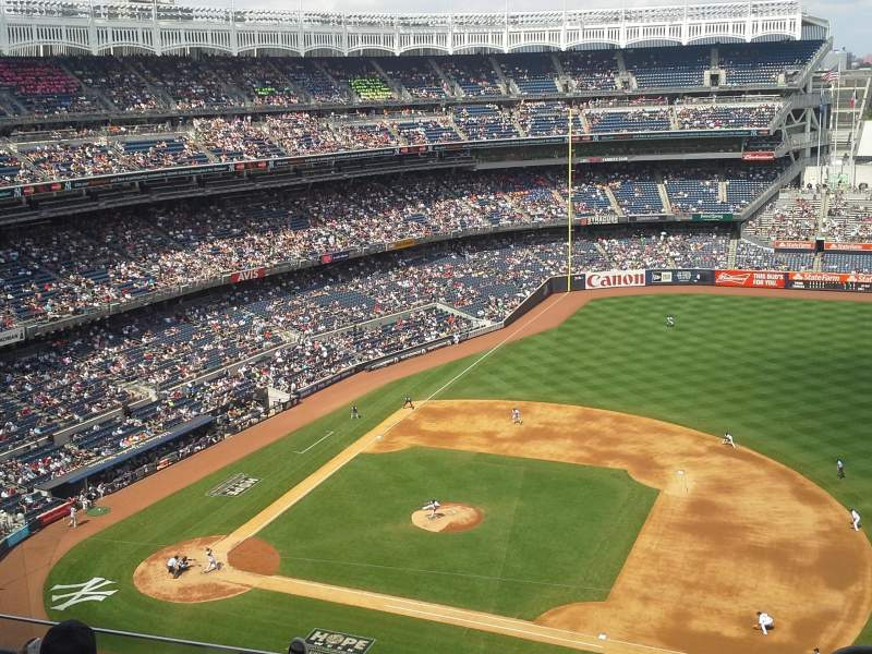 Seating view for Yankee Stadium Section 415 Row 5 Seat 1