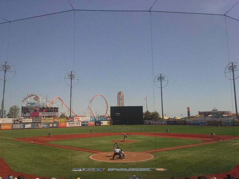 Seating view for MCU Park Section 2 Row Q Seat 1