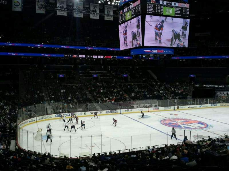 Seating view for Barclays Center Section 111 Row 8 Seat 1