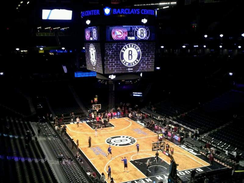 Seating view for Barclays Center Section 218 Row 2 Seat 12