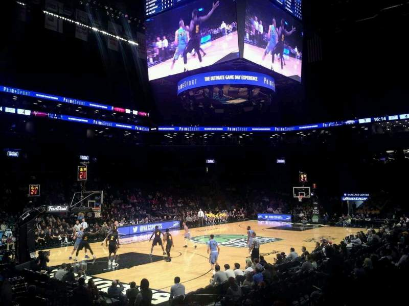 Seating view for Barclays Center Section 29 Row 11 Seat 1