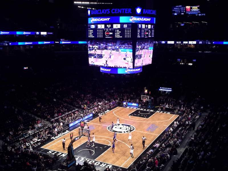 Seating view for Barclays Center Section 229 Row 4 Seat 20