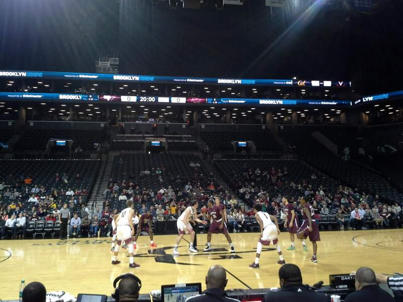 Seating view for Barclays Center Section 8 Row 1 Seat 25