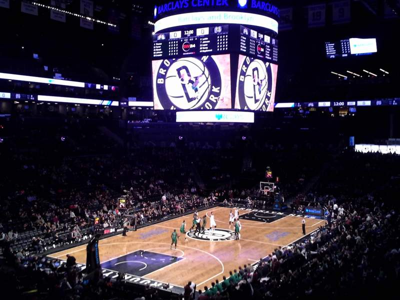 Seating view for Barclays Center Section 114 Row 8 Seat 1