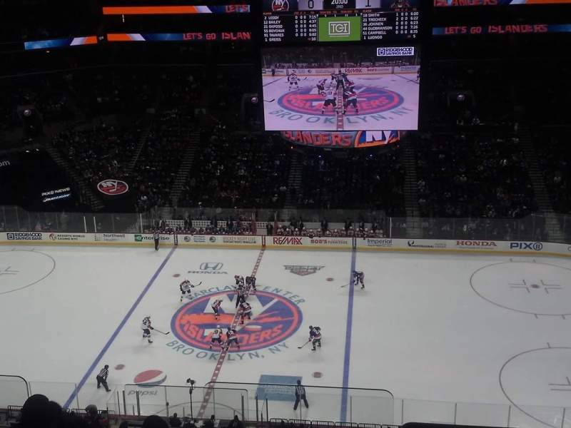 Seating view for Barclays Center Section 223 Row 8 Seat 24