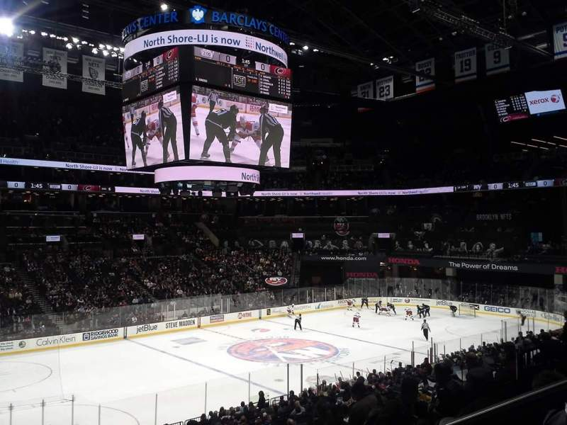 Seating view for Barclays Center Section 111 Row 6 Seat 1