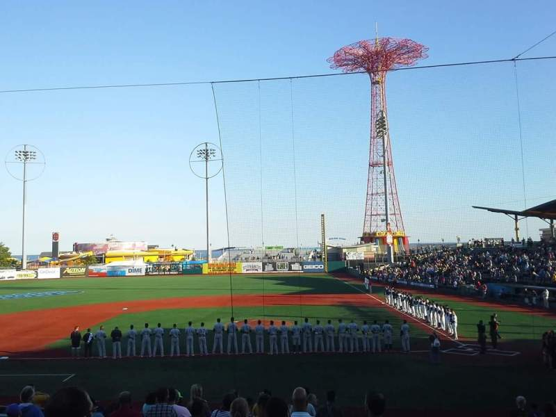 Seating view for MCU Park Section 7 Row S Seat 1