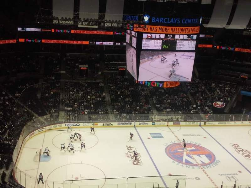 Seating view for Barclays Center Section 210 Row 11 Seat 1