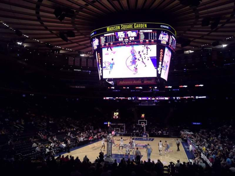 Seating view for Madison Square Garden Section 103 Row 10 Seat 1