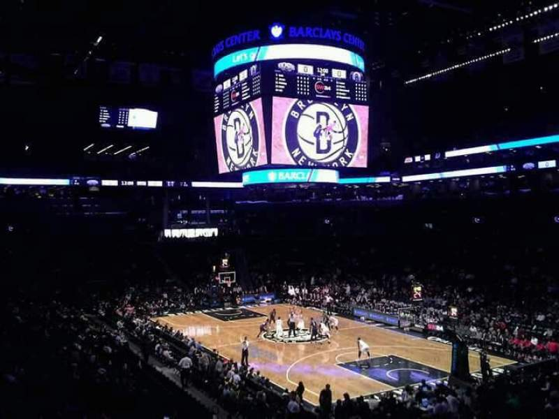 Seating view for Barclays Center Section 120 Row 6 Seat 1