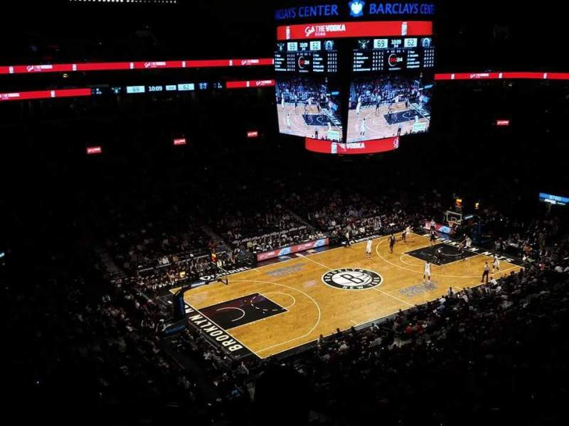 Seating view for Barclays Center Section 228 Row 7 Seat 1