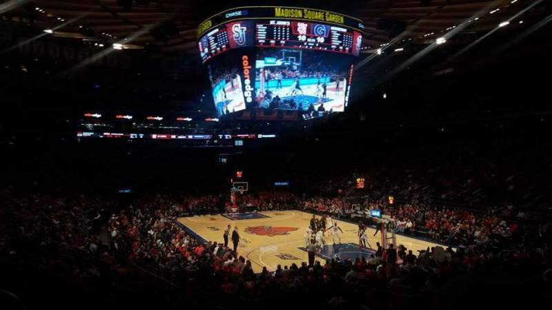 Seating view for Madison Square Garden Section 110 Row 6 Seat 1