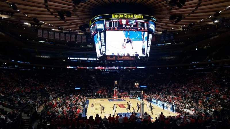 Seating view for Madison Square Garden Section 101 Row 16 Seat 17