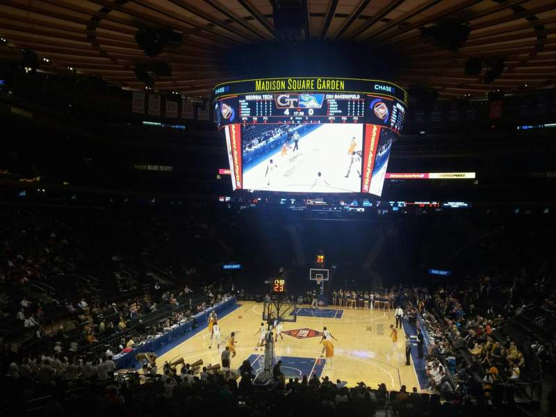 Seating view for Madison Square Garden Section 103 Row 20 Seat 22