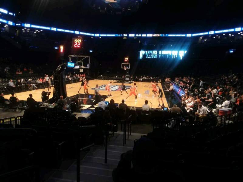 Barclays Center, section: 15, row: 13